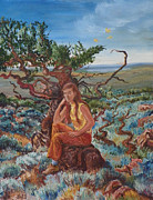 Wyoming Paintings - My Sister Lenore in the Cedar Breaks by Dawn Senior-Trask