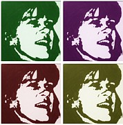 Guitar Drawings Posters - My Sister Sharon Poster by Robert Margetts