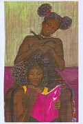 Sisters Paintings - My sisters hair by Rhetta Hughes