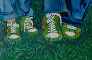 High Top Tennis Shoes Prints - My Sisters Shoes Print by Sherrie Phillips