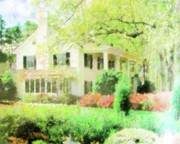 White House Mixed Media Originals - My Southern Home by Florene Welebny