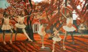 Ballet Dancers Posters - My Spirit Rises In Fall Poster by Amira Najah Whitfield