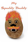 Kitchen Decor Digital Art Framed Prints - My Spuddy Buddy Framed Print by Andee Photography