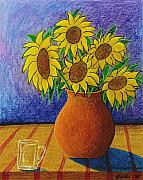 Vangogh Originals - My Sunflowers by Arnold  Isbister