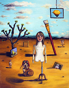 Paint Brush Posters - My Surreal Life Poster by Leah Saulnier The Painting Maniac