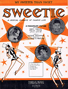 Sweetie Framed Prints - My Sweeter Than Sweet Framed Print by Mel Thompson