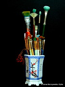 Folkartanna Paintings - My Tools by Anna Folkartanna Maciejewska-Dyba