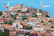 Lesvos Acrylic Prints - My Town  Acrylic Print by Eric Kempson