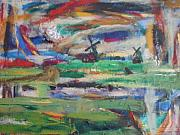 Abstract Windmill. Paintings - My Trip To Holland by Stuart A Davison