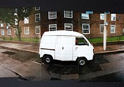 Streetscape Paintings - My Van by Michael Anderson
