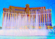 The Strip Framed Prints - My Vegas Bellagio 2 Framed Print by Randall Weidner