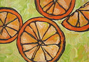 Oranges Painting Originals - My Vitamin C by Sandy Tracey