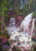 Abiquiu Paintings - My Waterfall by Onyx Gallery of Kemper Coley Fine Art