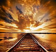 Rail Prints - My Way Print by Photodream Art