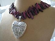 Food And Beverage Jewelry Originals - My Wine Valentine by Cara McMannis