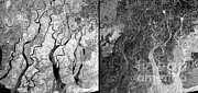 Flooding Prints - Myanmar Before And After Nargis Print by Esa