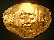 Exhibit Prints - Mycenae Death Mask 1 Print by Ellen Henneke
