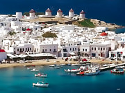 Mykonos Print by Dean Wittle