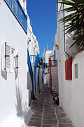 Greek Originals - Mykonos Town Street by Terence Davis