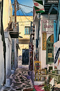 Street Photography Digital Art - Mykonos V by Tom Prendergast
