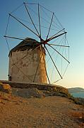 Cylinder Prints - Mykonos Windmill  Print by Joe  Ng