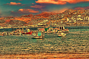 Greek Islands Framed Prints - Mykonos x Framed Print by Tom Prendergast