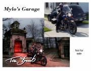 Cruiser Digital Art Prints - Mylos Garage Print by Tom Straub