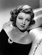 Thin Eyebrows Photos - Myrna Loy By Clarence Sinclair Bull by Everett