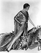 Leopard Skin Framed Prints - Myrna Loy, Fox, 1931 Framed Print by Everett