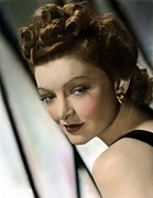 Thin Eyebrows Posters - Myrna Loy, Mgm, 1940s Poster by Everett
