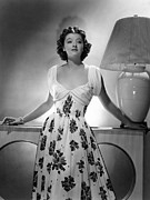 Flowered Dress Framed Prints - Myrna Loy, Mgm Portrait, 1939 Framed Print by Everett