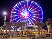 Mike Covington Art - Myrtle Beach Sky Wheel by Mike Covington