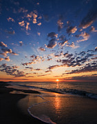 Beach Life Posters - Myrtle Beach South Carolina Sunrise Poster by Stephanie McDowell