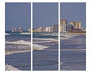 Myrtle Beach Prints - Myrtle in Three Print by Ches Black