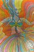 Mystery Digital Art - Mysterious Dancer by Gwyn Newcombe