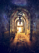 Entrance Door Posters - Mysterious Hallway Poster by Jill Battaglia