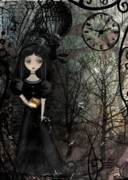 Goth Girl Digital Art - Mysterious Kingdom by Charlene Zatloukal