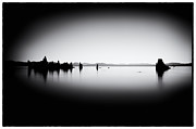 Beach Landscape Framed Prints - Mysterious Mono Lake Framed Print by Tanya Harrison
