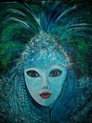 Mardi Gras Paintings - Mysterious Night by Vera Lowdermilk