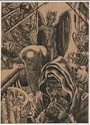 Tomb Drawings Metal Prints - Mysterious Plot Metal Print by Sirenko