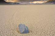 Polygon Posters - mysterious sliding rock on the Racetrack playa Death Valley Poster by Ed Book