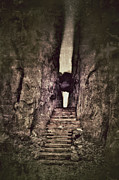 Mysterious Doorway Posters - Mysterious Stairway into a Canyon Poster by Jill Battaglia
