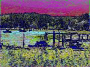 Mystery Digital Art - Mystery Bay At Sunset by Tim Allen