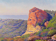 Realism Paintings - Mystery Caves Eagle Rock by Elena Roche
