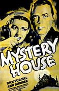 Haunted House Photo Prints - Mystery House, From Left Ann Sheridan Print by Everett