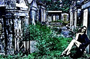 Lafayette Digital Art Prints - Mystery In A New Orleans Cemetery Print by James Griffin