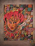 Jester Mixed Media Framed Prints - Mystery Framed Print by Marlene Robbins