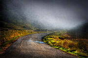 Mountain Road Digital Art Posters - Mystery Road  Poster by Svetlana Sewell