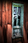 Abandoned Buildings Framed Prints - Mystery Window Framed Print by Emily Stauring