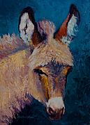 Mexican Horse Paintings - Mystic - Burro by Marion Rose